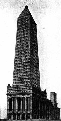Paul Gerhardt, Entry to the Chicago Tribune Tower Competition, 1922