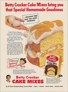 Betty Crocker Cake Mix Ad, 1953 | by alsis35 (now at ipernity)