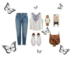 """""""summer afternoons"""" by minion-323 ❤ liked on Polyvore featuring Topshop, Converse, Chloé, Michael Kors and Casetify"""