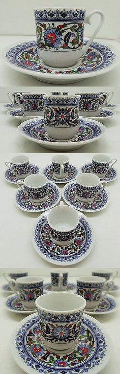 Cups and Saucers 36029: Turkish Coffee Or Espresso Cup And Saucer For 6 People 12 Pcs -> BUY IT NOW ONLY: $36.58 on eBay!