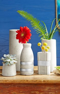 Create concrete vases molded into fun shapes using household items. -- Lowe's Creative Ideas
