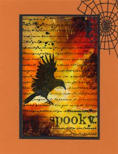 tutorial to make this spooky collage card
