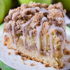 Cinnamon Apple Crumb Cake is the perfect dessert for the crisp weather coming up.