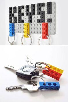 Innovative DIY Key Hanger   Fun and Creative Lego Decor Ideas   http://diyready.com/21-awesome-diy-lego-ideas/