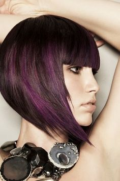 Like these colors! But long hair  peekaboo highlights
