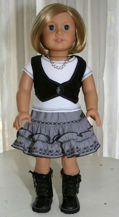 Trendy Spring Doll  Outfit fits 18 Inch  American Girl #Beautiful Dress  http://beautifuldresselsie.blogspot.com