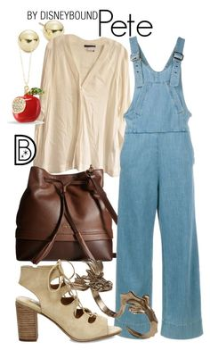 """""""Pete"""" by leslieakay ❤ liked on Polyvore featuring Lord & Taylor, Donna Karan, Lodis, Chloé, Bernard Delettrez, Steve Madden, disney, disneybound and disneycharacter"""