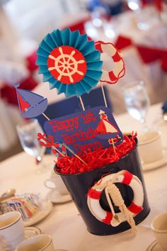 Nautical Party Decor Pack by LouieBellePaperShop on Etsy, $10.00