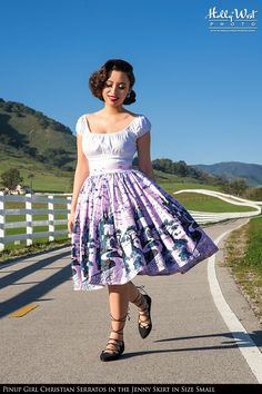 Sixties Style Full Swing Skirt in Pink Castle Print Cotton Sateen   Pinup Girl Clothing  So I definitely need this skirt in my life....like ASAP
