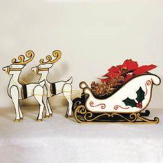 61 best Santa Sleigh and Reindeer Outdoor Decoration images on ...
