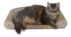Feline Be Mine Cardboard Cat Scratcher Couch - Kitty Couch Scratching Pad Sofa Bed Protect Furniture Getting Damaged - Kitten Lounger, Sturdy Eco-friendly Design, Catnip Included ** Check out the image by visiting the Amazon affiliate link.