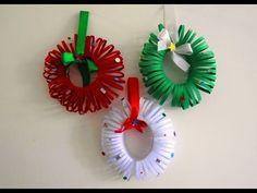 Easy Christmas Wreath Tutorial ~ DIY Christmas Room Decor ~ X'mas Decor Ideas with Paper... - YouTube