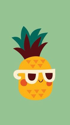 """Sometimes in life, you just gotta chill"" Cute + Kawaii Pineapple wallpaper!"