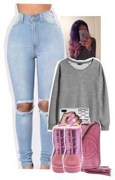"""Untitled #1690"" by toniiiiiiiiiiiiiii ❤ liked on Polyvore featuring H&M, Marc by Marc Jacobs, Gucci and UGG Australia"