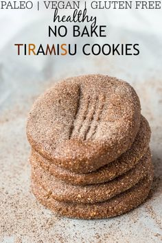 Healthy No Bake Tiramisu Cookies- Soft, chewy and just like fudge, these no bake Tiramisu cookies are a sinfully nutritious snack between meals or even breakfast! Gluten free, dairy free, refined sugar free and with a paleo friendly option- All bases are covered for you to indulge in dessert for breakfast!  @thebigmansworld -thebigmansworld.com