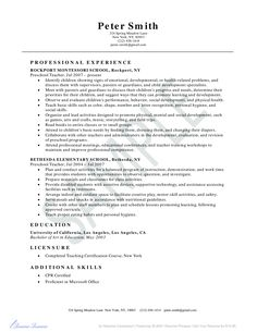 preschool teacher resume example education resume example