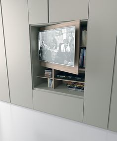 GRAFIK Wardrobe with built-in TV by Caccaro design Sandi Renko, R