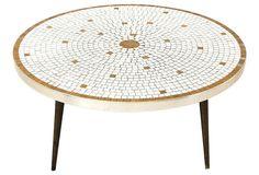 One Kings Lane - Desert Modern - Cocktail Table w/ Mosaic Tile Top
