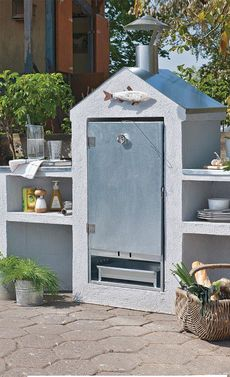 new home for primo grill and weber grill my outdoor grill center and patio diy pinterest. Black Bedroom Furniture Sets. Home Design Ideas