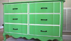 Before & After Dresser Makeover - Go Bold    http://thesoulfulhouse.com/2012/04/dresser-transformation-go-bold/