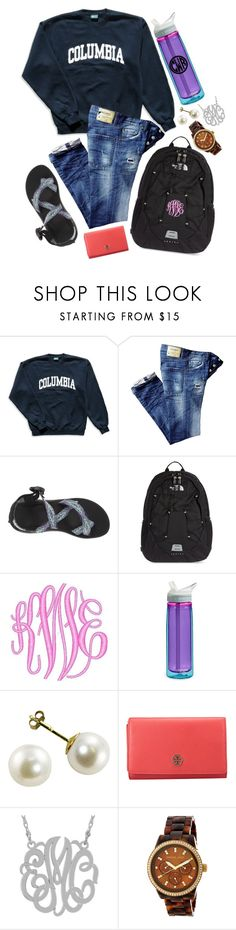 """""""school is almost over!!!!"""" by southernprepstar ❤ liked on Polyvore featuring Columbia, Chaco, The North Face, CamelBak, Tory Burch and MICHAEL Michael Kors"""