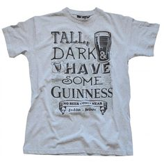 Original Guinness Shirt*Herren*grau mit weißem Aufdruck*Original aus  Irland* | T-shirt to show | Pinterest | Guinness