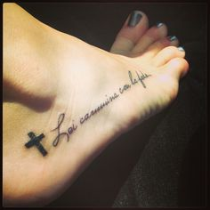"""Means """"she walks with faith"""""""