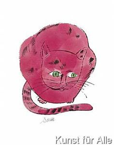 Red Sam Cat by Andy Warhol. I love all these Andy Warhol cat posters. Would make a great b-day gift. Red Cat, Pink Cat, Johannes Itten, Warhol Paintings, Cat Paintings, James Rosenquist, Andy Warhol Art, Photo Star, Pop Art Movement
