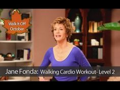 Jane Fonda: Walking Cardio Workout : Level 2 is a fast-paced fat-burning walking workout that will span one mile in just eighteen minutes to incinerate calories boost metabolism and work all of the major muscle groups through a combination of heart-pu Walking Training, Walking Exercise, Do Exercise, Excercise, Walking Workouts, Jane Fonda Workout, All Body Workout, Total Body Toning, Cardio Training