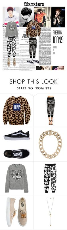 """""""KaiSoo"""" by oppaitsjustmystyle ❤ liked on Polyvore featuring Vans, Givenchy, Kenzo and Monki"""