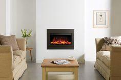Gazco Riva2 670 Designio2 Steel Electric Inset Fire - Graphite - Galleon Fires