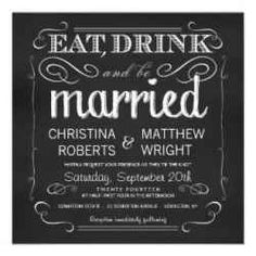 Chalkboard wedding invitations are not only trendy but they're simply adorable too.    Everyone seems to be searching for a unique style for their...