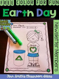 FREE Color For Fun Earth Day Printable at Fern Smith's Classroom Ideas