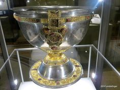 Dublin, National Museum of Ireland Archaeology -- Silver chalice, 9th century, Tipperary