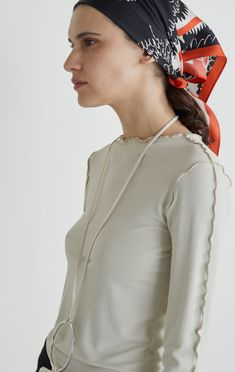 Shop Poppy scarf at the official Rodebjer online shop. Discover all the details, product information and how to style it. Silk Scarves, Everyday Look, Women Wear, Bomber Jacket, Topshop, Headscarves, Pure Products, Bandana, Long Sleeve