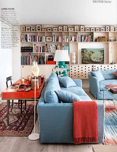 Desk behind sofa - Terence Conran apartment