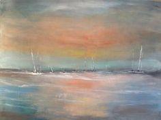 "Saatchi Art Artist Molly Indra; Painting, ""Sweet Sunset"" #art"