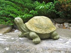 Turtle Stretching Statue Painted Concrete by WestWindHomeGarden, $17.95
