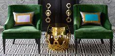 Jonathan Adlar.  Green, black, white & blue...love chairs