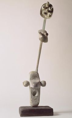 Miro: YOUNG WOMAN DREAMING OF EVASION, 1969, LOST-WAX CASTING, PATINATED BRONZE