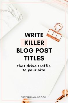 No matter how great your posts are, you're still not getting views. Ever feel like this? Maybe it's time to take a second look at your blog post titles. Use these 7 secrets to create titles your readers won't be able to resist!