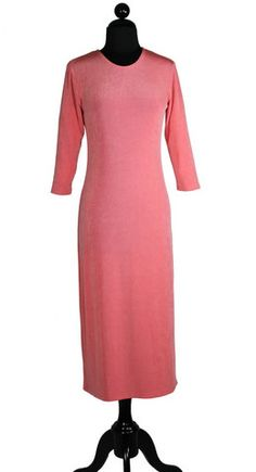 Dress, Easy Care Liner Knit, Coral - Classy Sisters