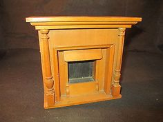 "$76.00 and I think it's worth it! I just hate maple ""Antique Doll House Maple Wood Mantle Fireplace Large Scale"