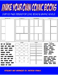 Make Your Own Comic Books - Page Design Templates and Tools for Comics and Manga from Velerion Damarke on TeachersNotebook.com -  (116 pages)  - This volume has: over 100 templates like you would find in comic books and graphic novels from all the major companies!