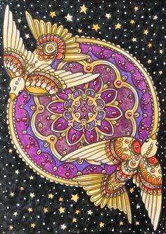 "Hanna Karlzon ""Winter Dreams"" #hannakarlzon #winterdreams #adultcoloring"
