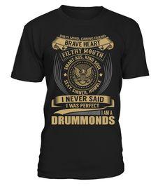 DRUMMONDS - I Nerver Said