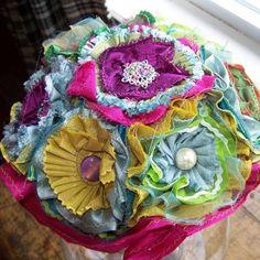 fabric flowers bouquet