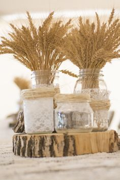 Ideas Wedding Winter Centerpieces Mason Jars For 2019 – wedding centerpieces Wheat Centerpieces, Wheat Decorations, Wedding Centerpieces Mason Jars, Winter Centerpieces, Wedding Decorations, Quinceanera Centerpieces, Wheat Wedding, Wedding Jars, Diy Wedding