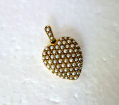 Victorian Pearl 14k Gold Heart Locket by Mosaicsandjewelry on Etsy