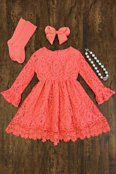 Celeste Lace Dress - Sparkle in Pink